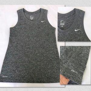 Nike Dri Fit Muscle Tank Top Gray Size XS